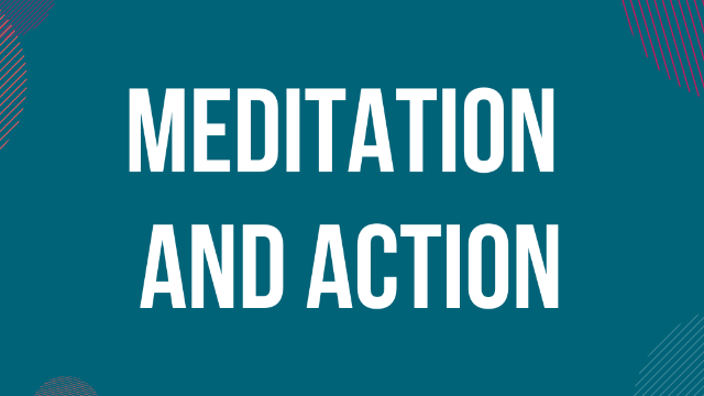 "Webinar ""Meditation and action"" - 29 April"