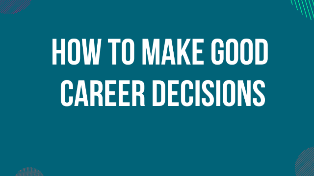 "Webinar ""How to make good career decisions"" with Patrick McGinnis - April 22nd"