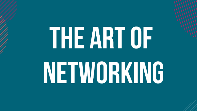 "Webinar ""The art of networking"" - 31 March"