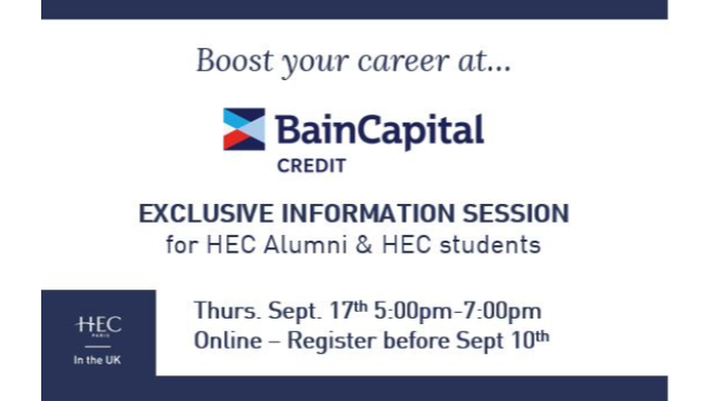 Bain Capital Credit - Exclusive Information session